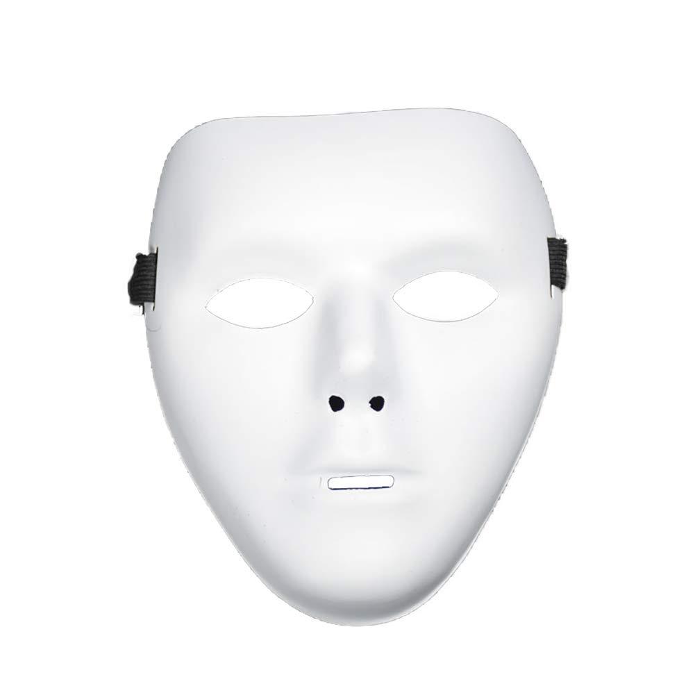 Maschera semplice di Halloween Celebration Mask Puntelli Articoli per feste per uomo Decor (bianco) 1PCS Xiton