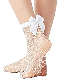 3 Pairs Women's Summer Sexy Thin Fishnet Short Pantyhose Socks