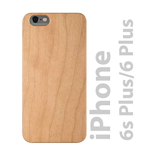 iATO iPhone 6 Plus / 6s Plus Wooden Case - Real Cherry Wood Grain Premium Protective Shockproof Slim Back Cover - Unique, Stylish & Classy Snap on Thin Bumper Accessory Designed for iPhone 6+ 6s+