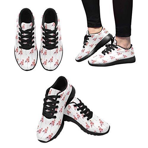 Flamingos Design Shoes InterestPrint Athletic 7 Women's Running AXIwxa