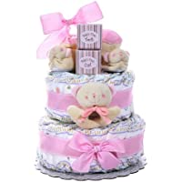 Alder Creek Gifts Baby Cakes 2 Tier Diaper Cake (Blue or Pink)