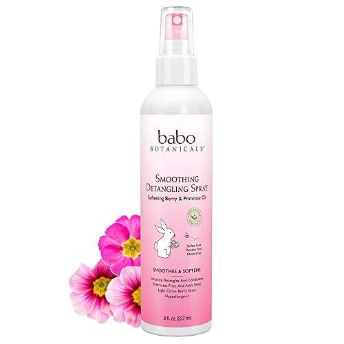Babo Botanicals Berry Primrose Instantly Smooth Detangler, 8 Ounce