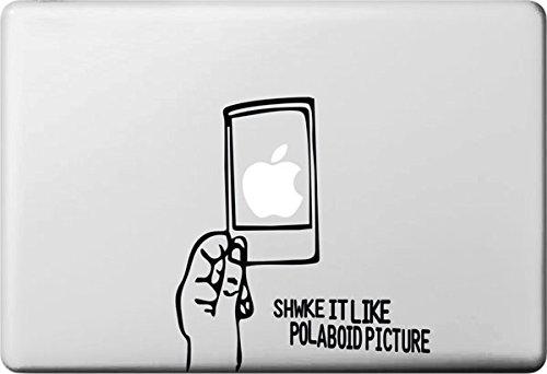 Vati Blätter Removable Kreative Shake it, wie Polaroid Picture Aufkleber Aufkleber Skin Art Schwarz für Apple Macbook Pro Air Mac 13