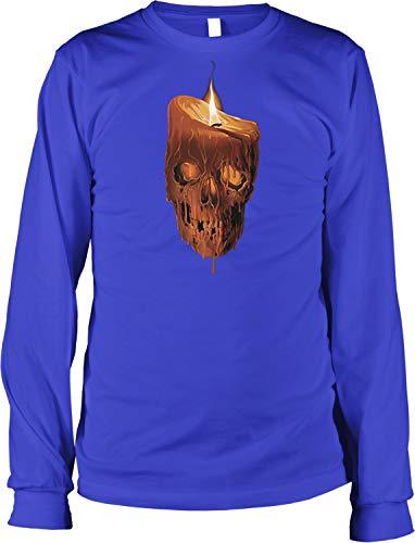(NOFO Clothing Co Melting Skull Candle Men's Long Sleeve Shirt, L)
