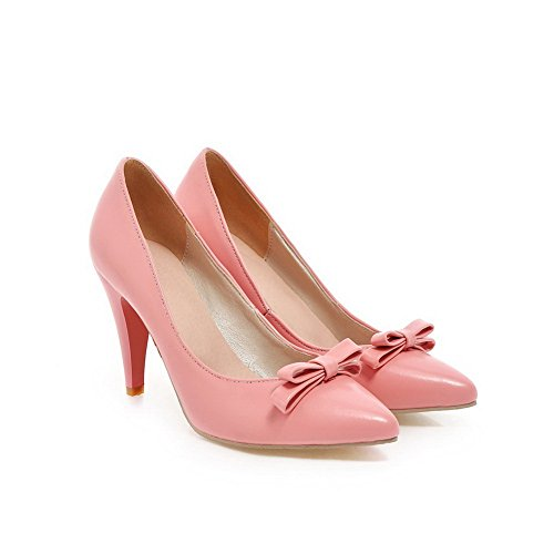 BalaMasa donna slip-on high-heels solido morbido materiale pumps-shoes, Rosa (Pink), 35