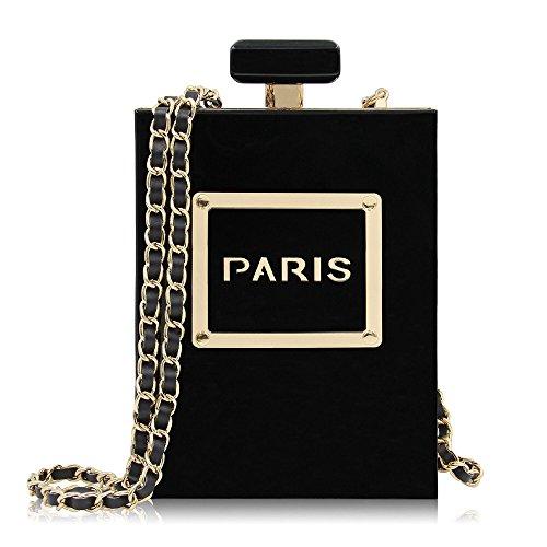 Clutch Women Shoulder Perfume Crossbody Trend Fashion Evening Bottle Rabbit Bag Black Bag Purse Lovely Color Acrylic Shape Black Stylish 7qfzx5