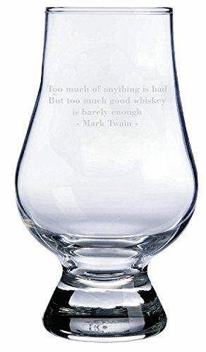 GLENCAIRN Mark Twain Quote Whisky Glass