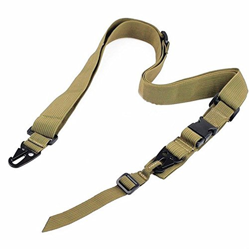 Ultimate Arms Gear Two-Point Adjustable Shoulder Strap Sling, TAN AR15, AR-15, M4,M-4, M16,M-16 Rifle/Shotgun/Gun (Side M4 Sling Swivel)