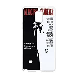 Al-Pacino-Scarface Samsung Galaxy Note 4 Cell Phone Case White Phone cover P537599