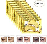 Joynest 30 Pairs Crystal Eye Mask Under Eye Mask 24K Gold Gel Collagen Eye Pad for Moisturizing & Reducing Dark Circles Puffiness Wrinkles Under Eye Patch for Women (Gold)