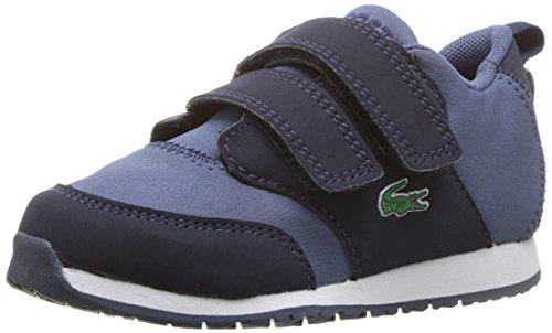 Lacoste Baby L.Ight Sneaker, Navy Blue Textile, 5. Medium US Toddler (Lacoste Baby Sneakers)