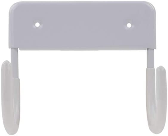 Exclen Ironing Board Hanger Wall Mount Ironing Board Holder Organizer Wall Rack for Laundry Rooms Storage Rack Hanging Shelf Hanger (White)