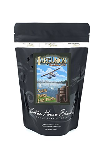 Seattle  Washington   Lake Union  8Oz Whole Bean Small Batch Artisan Coffee   Bold   Strong Medium Dark Roast W  Artwork