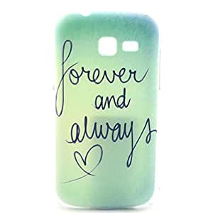 S7392 Case,Samsung Galaxy Trend Lite S7390 S7392 Case - LUOLNH Fashion Style Colorful Painted Forever And Always Love Hard Case Back Cover Protector Skin For Samsung Galaxy Trend Lite S7390 S7392