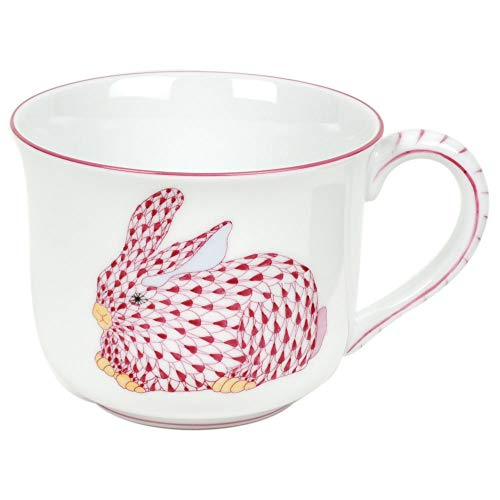 Herend Children's Porcelain Mug With Pink Bunny