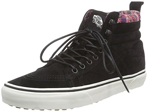 Vans SK8-Hi MTE Black/Woven Chevron Womens High Top Sneakers (3.5 Mens/5 Womens)
