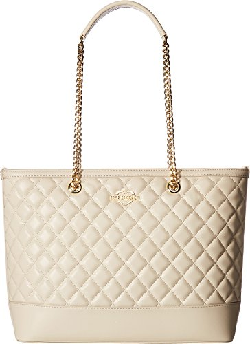 Moschino - Bolso al hombro para mujer Marfil blanco perla (ral 1013) Grandes