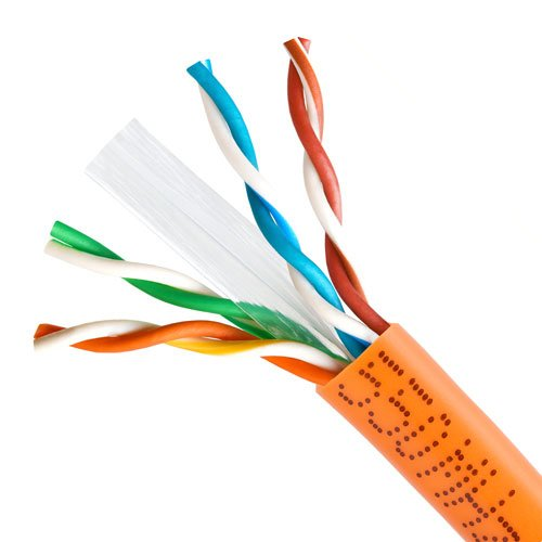 Cmple CAT6 BULK 23AWG ETHERNET LAN NETWORK CABLE - 1000 FT Orange by Cmple