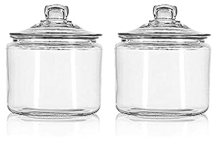 3 Quarts 2 Pack Anchor Hocking Glass Heritage Hill Jar