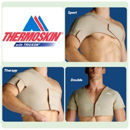 Thermoskin Shoulder Supports - Single Sports, Black, L, Chest Circ: 40-1/2