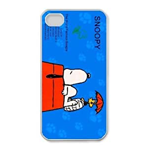 Durable Rubber Cases iPhone 4,4S Cell Phone Case White Snoopy Amzepa Protection Cover
