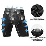 Runhit 3 Pack Compression Shorts for Men,Mens