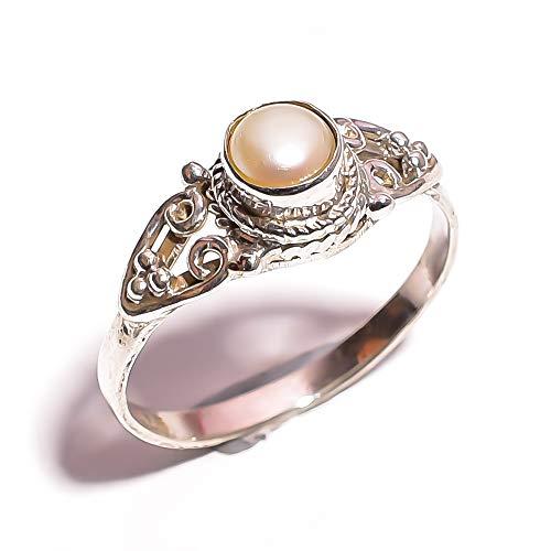 Pearl Gem Biwa - mughal gems & jewellery 925 Sterling Silver Ring Natural Biwa Pearl Gemstone Fine Jewelry Ring (Size 7 U.S)