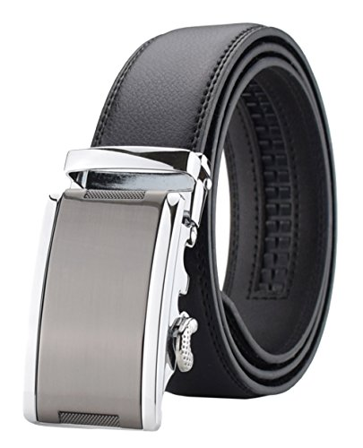 QISHI YUHUA Belt Men's Leather Ratchet - Genuine Belt Cotton