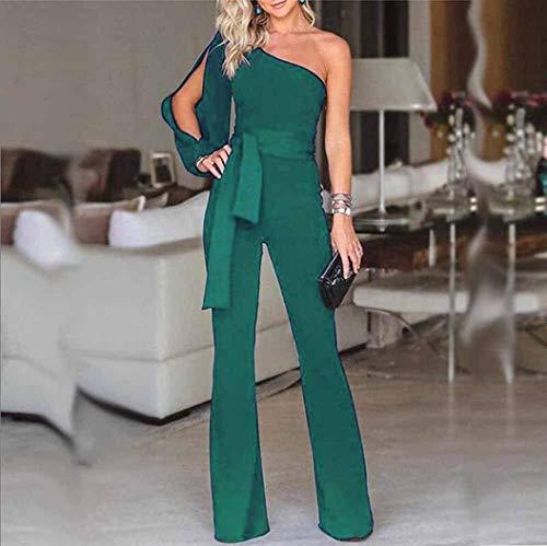 moulante manches slim manche couleur à haute décontractée l shirt longues avec Zhrui clubwear taille vert violet longue pour taille T qvYY1