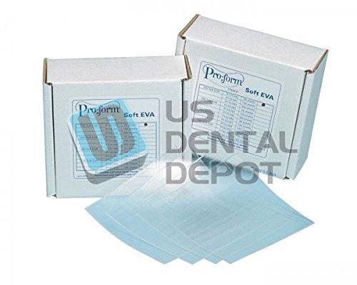 KEYSTONE - Soft Eva - .080in ( 2mm ) - 25pk - 5in x 5in sheets - CLEAR 9597150 Us Dental Depot