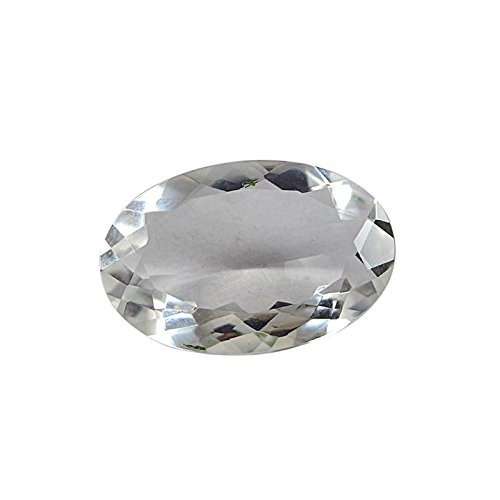 divineimpex 36.35 CTS Crystal Quartz Oval Faceted Loose宝石pg-126313   B0765846KW