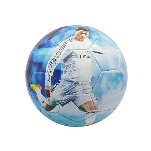 Superstar Soccer Ball FIFA Size 5 Best Gift for Soccer Training | Cristiano Ronaldo Portugal Juventus CR7 | Leo Messi Barcelona | Neymar Jr Brazil | Italy | England | USA