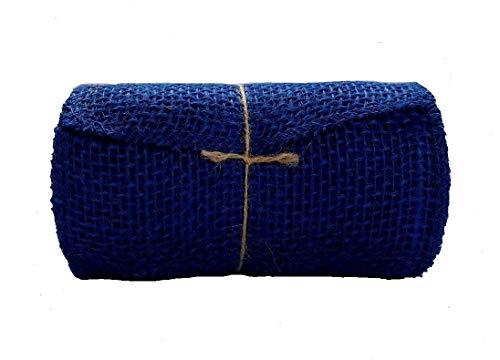 Navy Blue Burlap Ribbon Roll - 5.5