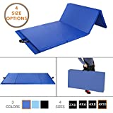 Folding Gymnastics Gym Mat by D1F for Workout Equipment, Routines – 4 Sizes in 3 Colors Available – High-Density Foam, Exercise, Yoga, Gymnastics, Crossfit, Aerobics, Tumbling Mats for Home, Foldable (Renewed)