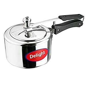 Delight Aluminium ISI Marked, Non-Induction Pressure Cooker Inner Lid (5 L, Silver)