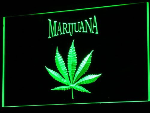 ADVPRO Cartel Luminoso j049-g Marijuana High Life Hemp Leaf ...