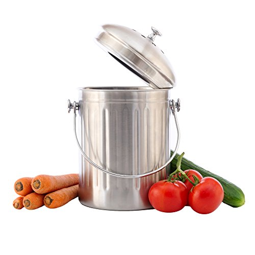 Chef's Star Stainless Steel Compost Bin 1 Gallon by Chef's Star (Image #3)