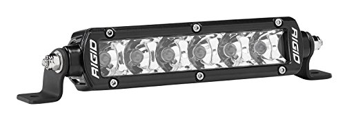 Rigid Industries 906213 SR-Series Pro Spot Light; Surface Mount; 6 in.; Single Row; 10 Degree; Hybrid; 6 White LEDs; 2 Piece;