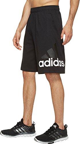 adidas Men's Athletics Jersey Shorts, Black, Medium