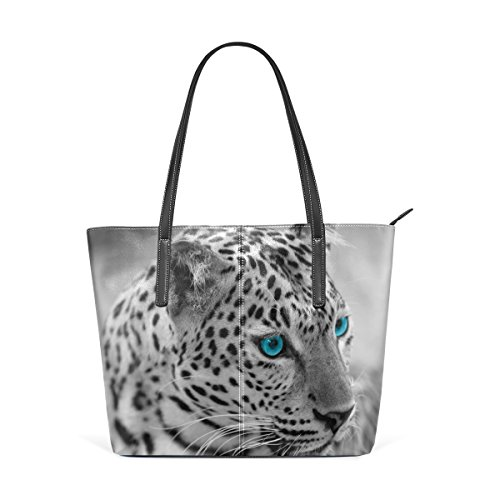 Épaule À Coosun Moyen Et Femmes Pour Jaguar Fourre Noir En Muticolour tout Sac Blanc Pu Les Cuir Main CFzF0xAq4w