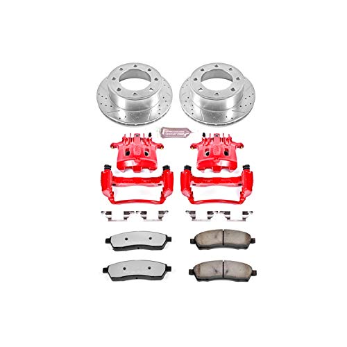 (Power Stop KC1890-36 Rear Z36 Truck and Tow Brake Kit with Calipers)