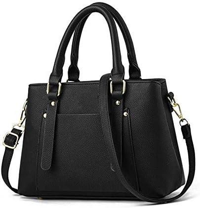 バッグ - PU生地/ポリエステル/シンプルなスタイルのファッションのハンドバッグ、女性のメッセンジャーバッグ/ショルダーバッグ、黒、ソフト/ウェアラブル(29x12x34cm) よくできた
