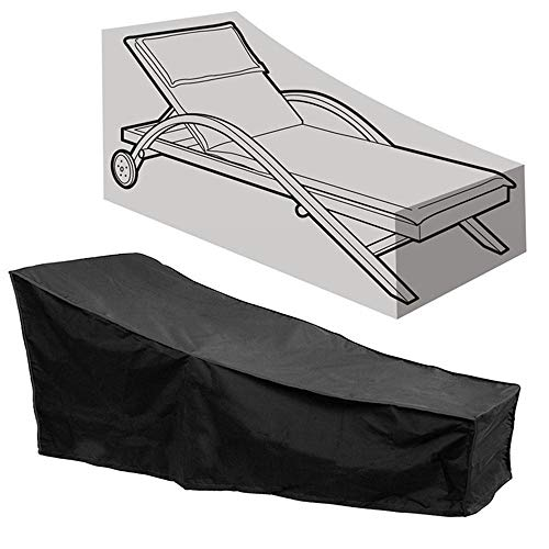 SmartRICH Outdoor Lounge Chair Cover, Heacy Duty Durable Waterproof Dustproof Patio Sofa Garden Furniture Sunbed Cover by SmartRICH