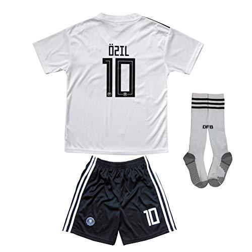 New 2018 Germany #10 Ozil #13 Muller Home Away Football Futbol Soccer Kids Jersey Shorts Socks Set Youth Sizes