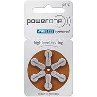 PowerOne No Mercury Size 312, PR41, 2 Pack (60 Batteries)