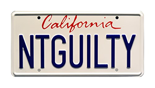 The Lincoln Lawyer | Matthew McConaughey | NTGUILTY | Metal Stamped Vanity Prop License Plate (Not Prop)