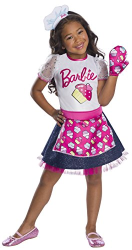 Rubie's Barbie Career Child's Costume, Baker Chef, Mermaid,