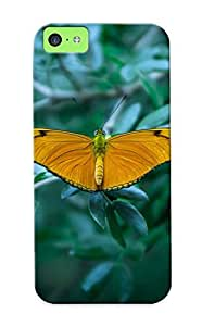 Iphone 5c Yellow Butterfly Print High Quality Tpu Gel Frame Case Cover For New Year's Day