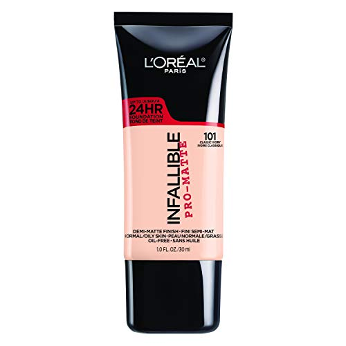 (L'Oréal Paris Makeup Infallible Pro-Matte Foundation, 101 Classic Ivory, 1 fl.)