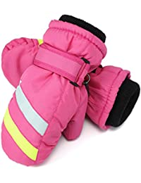 Flammi Kids Ski Mittens Fleece Lined Winter Snow Mittens Water-Resistant for Boys Girls